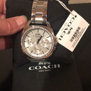 Coach silver perfect boyfriend watch BNWT